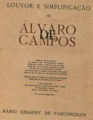 Louvor e simplificação de Álvaro de Campos